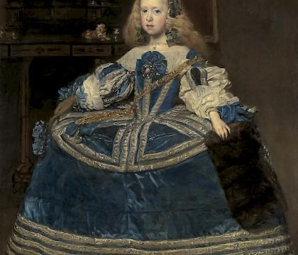 Infanta Margarita in a Blue Dress