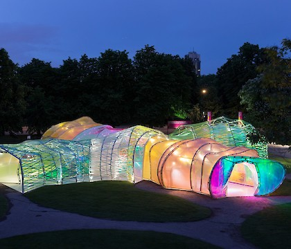 The second home serpentine pavilion by SelgasCano